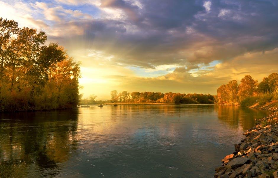 Leto - čamci - zora - sunce